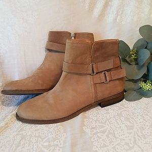 Franco Sarto Kacey Leather Ankle Boots Booties 10
